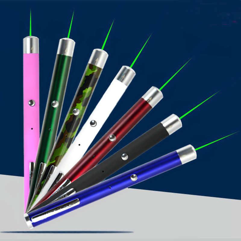 201 pluma LASA de carga USB 2019 nuevo estilo recargable puntero láser verde láser 7 colores al por mayor