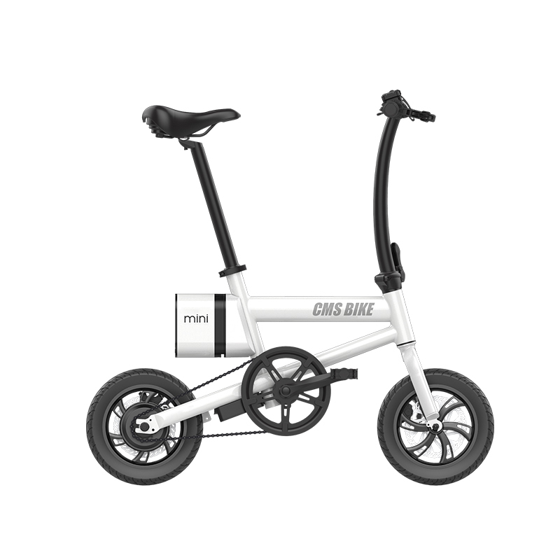 portable mini adult folding ebike 12 inch pedal assited electric bicycle foldable 1