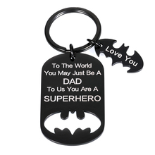 Dad-Birthday-Keychain Fathers-Day-Gifts Daddy Pendant Key-Ring Daughter I-Love-You Kids