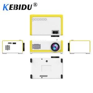 Image 2 - Kebidu M1 Portable Mini Projector 1800 Lumens HDMI 1080P Mini Home Projector 3.5mm Audio For AV USB SD TF Card USB Pocket Beamer
