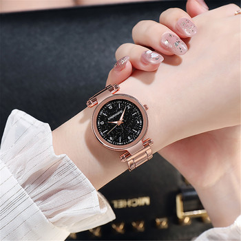 Luxury Watch Women Fashion Starry Sky Small Quartz Watches Ladies Stainless Steel Dial Casual Wristwatch relogios masculinos top brand fashion mesh band ladies watches women luxury starry sky dial roman numerals quartz watch clocks relojes para mujer