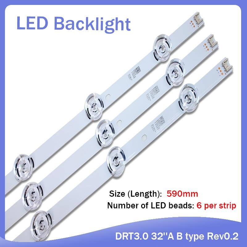 New! 9 PCS(6*A 3*B) LED Backlight Strip For LGIT A B 32Inch LG TV 32MB25V Innotek DRT 3.0 32