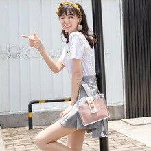 PVC Handbags letter bag Summer 2020 Fashion Chain Transparent Shoulder Bag Clutch PU leather