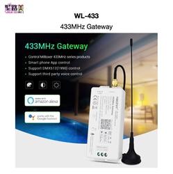 WL 433 433MHz brama DC5V/500mA WiFi RF DMX512(1990) aplikacja na smartfona sterowanie dla produktów z serii MiBOXER 433MHz MiBOXER mi light|Kontrolery RGB|   -