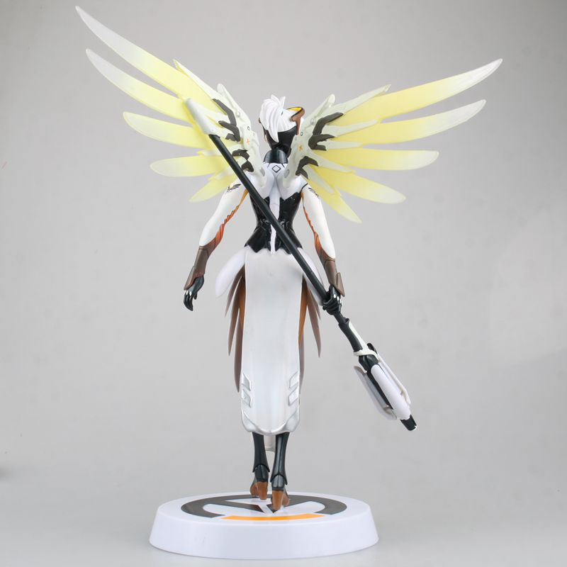 Hasbro Overwatch Angela Ziegler Mercy Action Figures Model Toy with Accessories  Blizzard Video Game Characters 3
