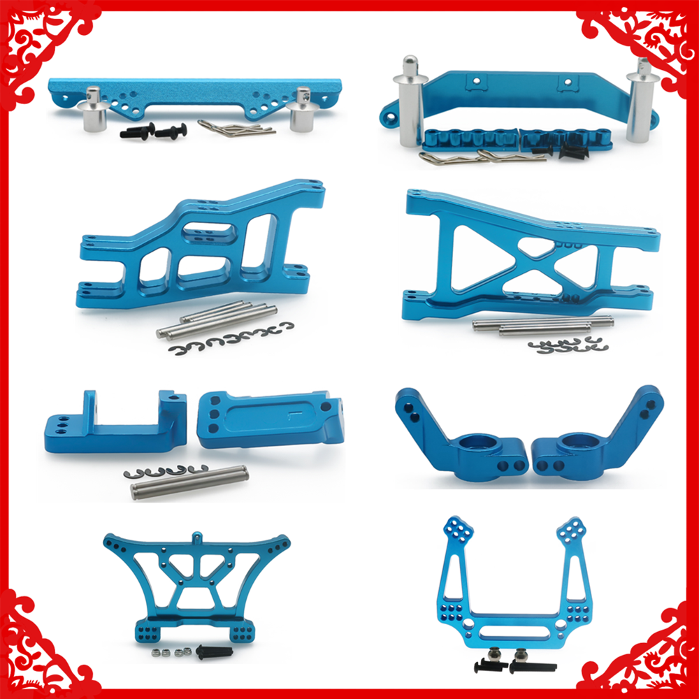 Alloy Front&Rear Hub Carrier/body mount body posts/suspension arm/shock tower for rc car 1/10 Traxxas Slash 2WD upgrade parts
