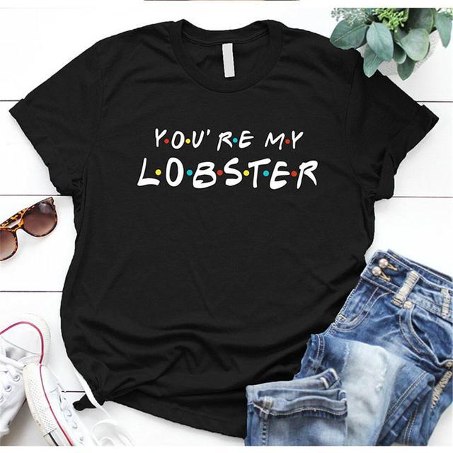 Envmenst 100% cotton T-shirt Friends TV Show Quotes How You Doin Women Short-Sleeve Fashion Funny Tops T-shirts For Men Women 2