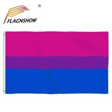 Бесплатная доставка Flagnshow гей бисексуальный флаг 3x5ft украшение дома Радуга розового и фиолетового цветов синий ЛГБТ флаги