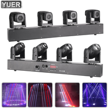 2021 LED 4 Head Cree 4X10W RGBW 4IN1 Mini Moving Head Light 6/12/14/27CH DJ Disco Wedding Stage Bar Nightclub DMX Voice Control
