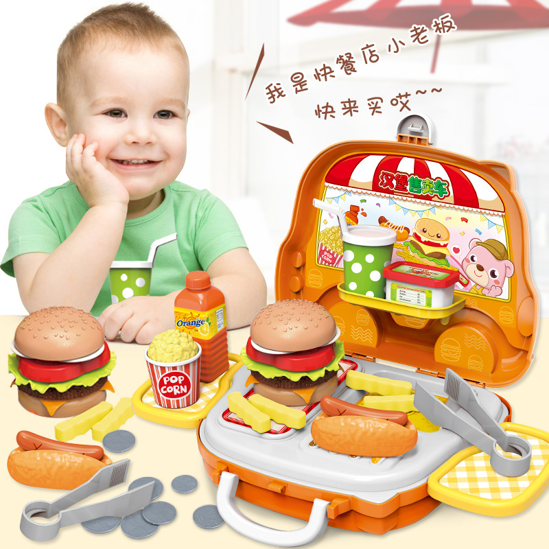Plastic Portable Suitcase Toys Tool Kitchen Cosmetic Medical Juguetes Boy Girl Educational Pretend Play Toys For Kid Luggage Box