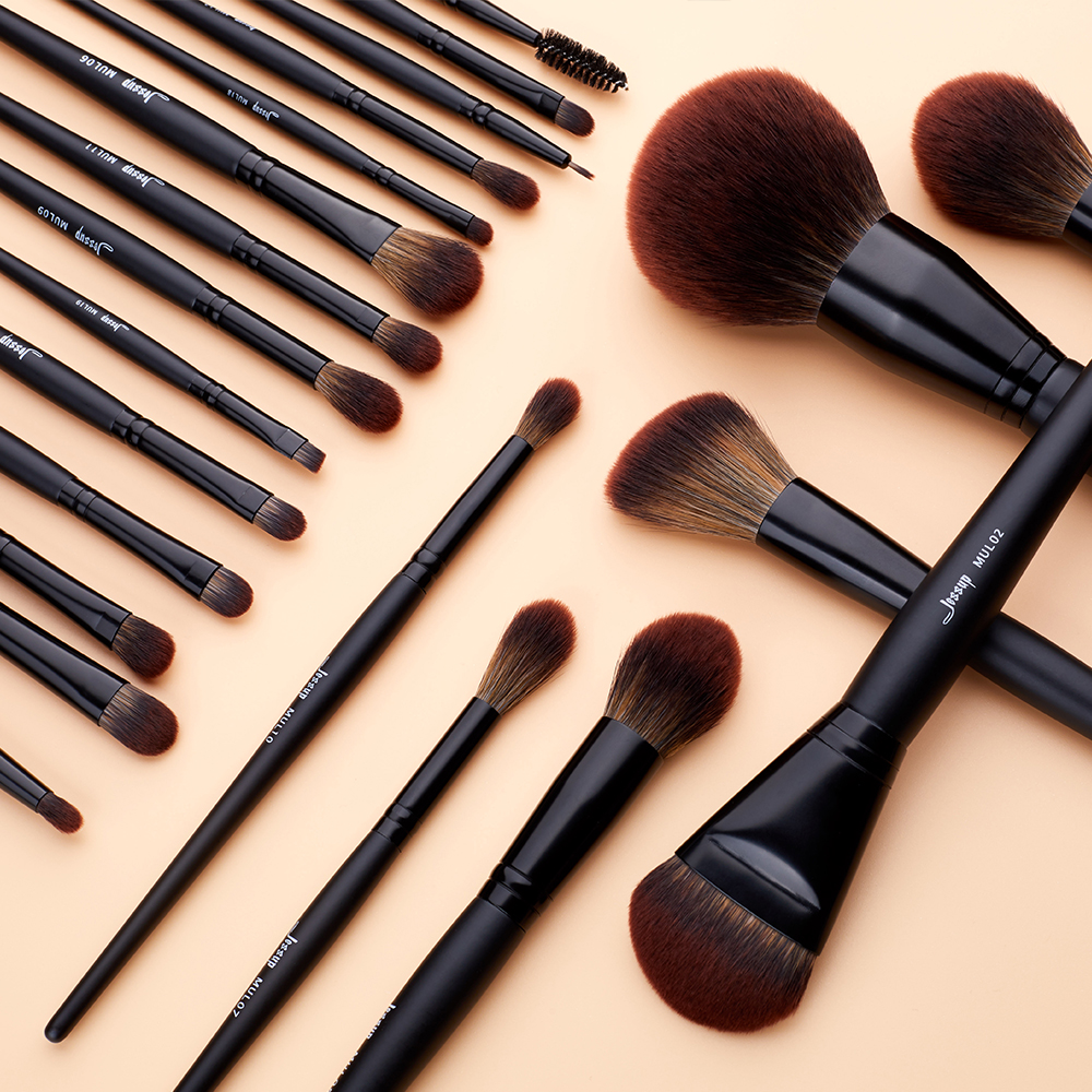 Jessup New Arrival Makeup brushes brushes Phantom Black 3-21pcs Foundation brush Powder Concealer Eyeshadow Synthetic hair 5