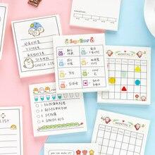 30 páginas gato feliz vida bloco de notas almofadas semanais mensais para fazer lista planejador papelaria bloco de notas pegajoso