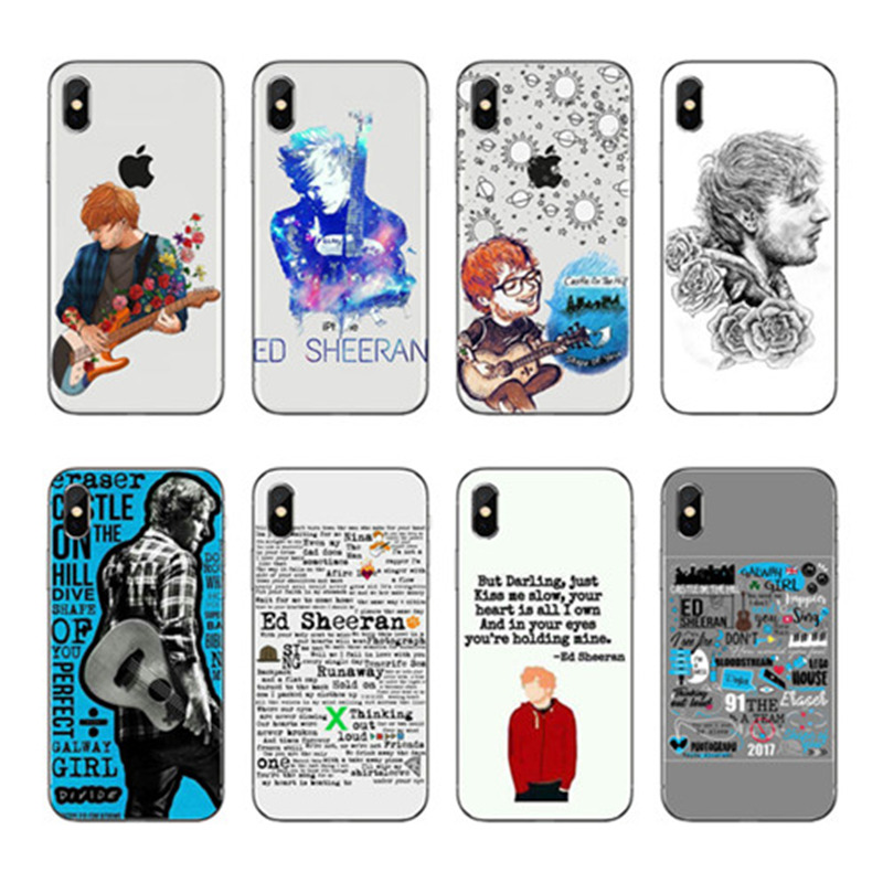 Pop singer Ed sheeran's phone case iPhone case for the Coque iPhone 11Pro XS MAX XR X 8 7 6 6s Plus 5S SE