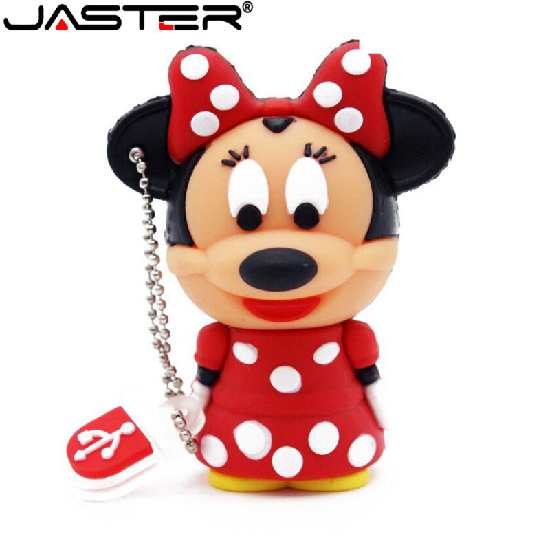 JASTER Cartoon Pendrive Minnie Mickey Mouse Usb Flash Drive 32GB 16GB 64GB Pen Drives Memory Stick Free Shipping+Drop Shipping