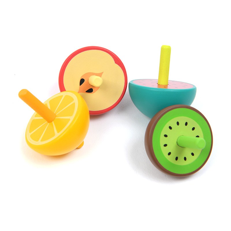 Mideer Milu New Style Toy Rotating Cute Fruit Small Spinning Top Children's Educational Scientific and Educational Toy enlarge