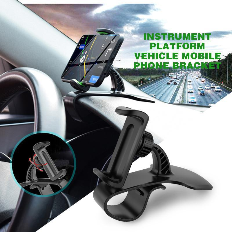 Universal Clip Fold Mobile Phone Stands for iphone HUD Type On Car Dashboard Mount GPS Cell Holder Bracket Stand