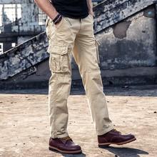 Taktyczne spodnie wojskowe męskie multi-pocket SWAT Combat spodnie wojskowe męskie IX9 wodoodporne odporne na zużycie joggersy Cargo Big Size tanie tanio DAILOU Cargo pants CN (pochodzenie) Mieszkanie Stretch Spandex Kieszenie Luźne W stylu Safari Midweight Suknem Pełnej długości