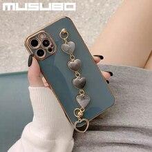 Musubo – Coque de luxe pour filles, étui pour iPhone 12 Pro Max 11 12 Mini XR Xs Max 8 Plus 7 Plus