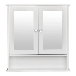 Espejo de doble puerta interior baño montado en la pared gabinete estante muebles blancos para baño estante de gabinete montado en la pared