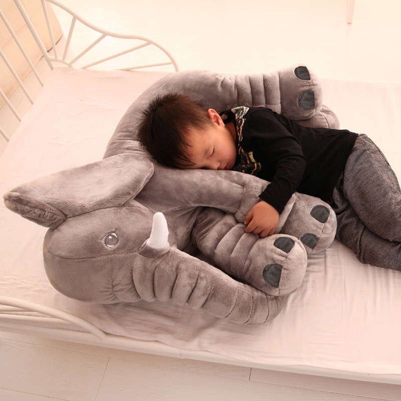 1 PC 40/60cm Cute Infant Super Soft Appease Elephant Playmate Calm Doll Baby Appease Plush Toys Elephant Pillow for Kids Gift-0