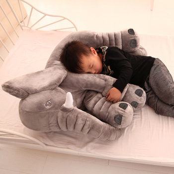 1 PC 40/60cm Cute Infant Super Soft Appease Elephant Playmate Calm Doll Baby Appease Plush Toys Elephant Pillow for Kids Gift