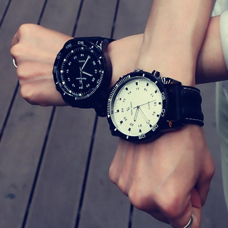 Military Big Dial Men Watch Fashion Sport Watch Men Leather Band Male Clock Quartz Wrist Watches Relogio Masculino Orologio Uomo