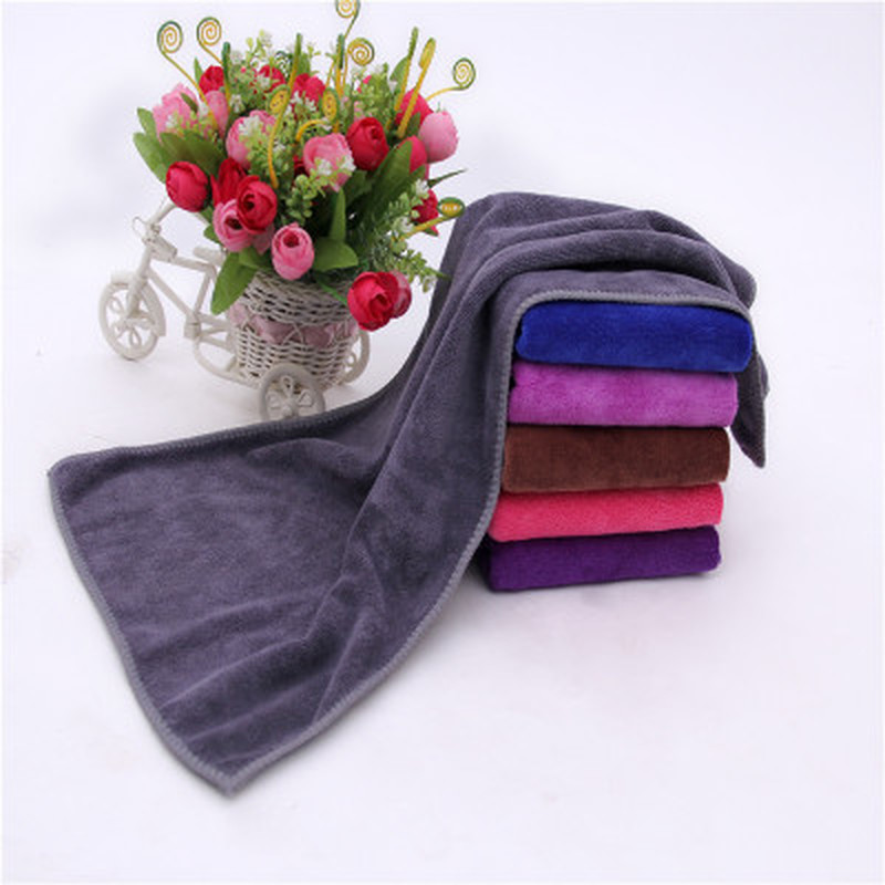 30x70cm Small Polyester Absorbent Hand Towel Microfiber Towel Quick-Drying Bath Towel Bathroom Kitchen Towels Supplies