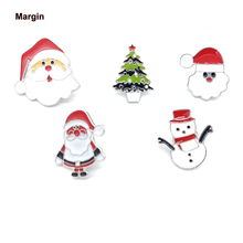 High Quality Collection Enamel Pin Cartoon Santa Claus Christmas Tree Snowman Brooch Lapel Pin Custom Badge Gift for Kids Girl high quality hat pin lapel pin soft enamel low price custom zinc alloy lapel pin fh680020