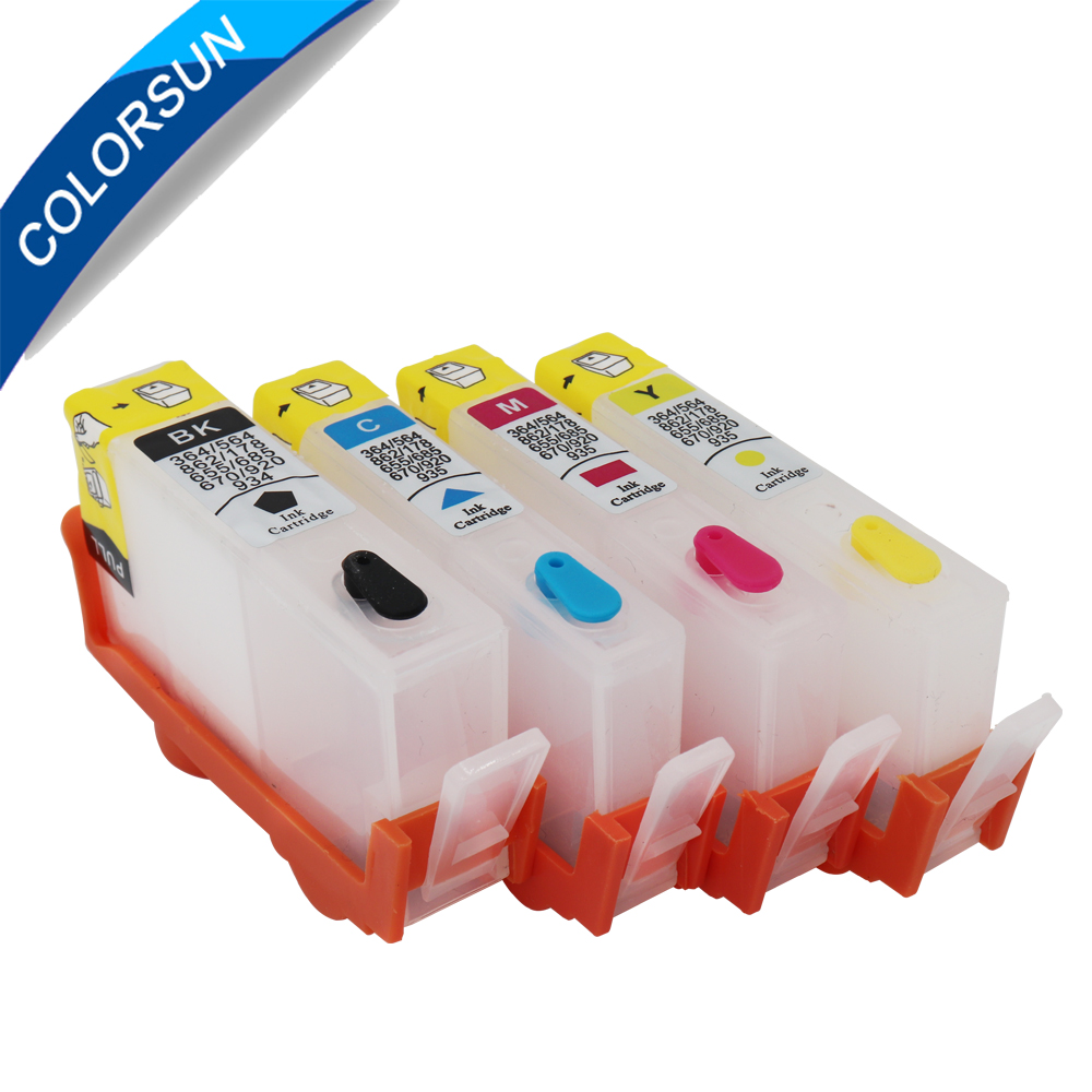 4PCS Refillable Ink Cartridge for HP920 920 XL for <font><b>HP</b></font> Inkjet Officejet 6000 <font><b>6500</b></font> 6500A 7000 7500 7500A <font><b>Printer</b></font> With reset Chip image