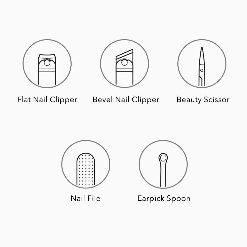 Xiaomi Mijia Nail Clippers Set 5Pcs 4