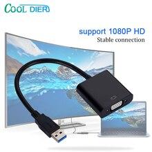 2020 NEUE Hohe qualität USB 3,0 Zu VGA Video display Adapter Kabel Multi display Converter Adapter Für PC Laptop windows 7/8/10