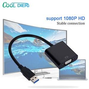Image 1 - ¡Novedad de 2020! Cable adaptador de pantalla USB 3,0 a vídeo VGA de alta calidad, Adaptador convertidor de pantalla múltiple para PC, portátil, Windows 7/8/10