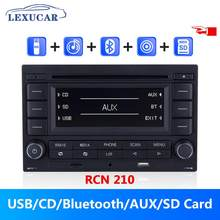 Lexucar rcn210 rádio do carro 2 din cd player bluetooth usb mp3 aux rcn 210 9n 31g 035 185 para vw polo 9n golf jetta mk4 passat b5