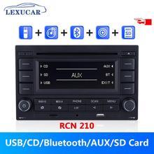 LEXUCAR Reproductor multimedia para coche, dispositivo bluetooth para automóvil con reproductor de CD, MP3, USB, AUX, para VW Golf, Jetta MK4, Passat B5 y Polo 9N, RCN 210 9N 31G 035 185