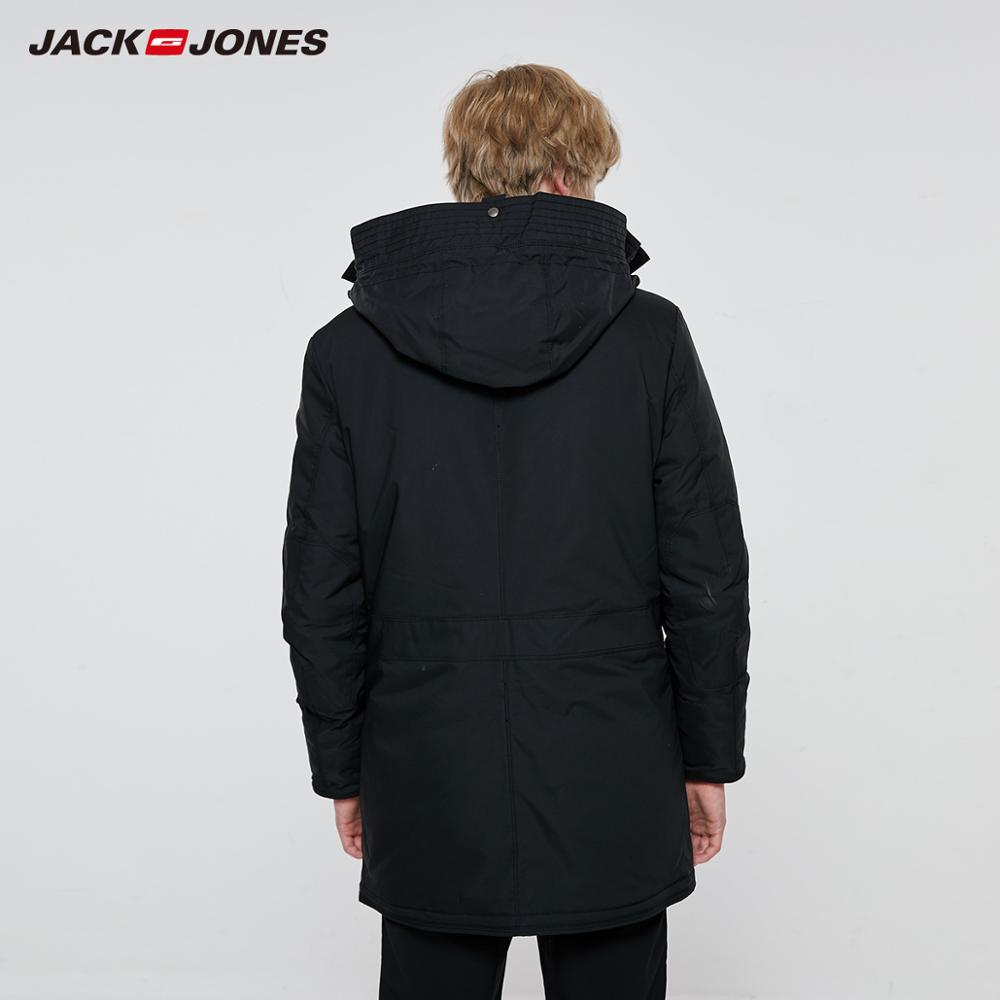 JackJones Men's Winter Hooded Parka Coat Long Jacket Luxury Overcoat 2019 New Menswear 218309511 2