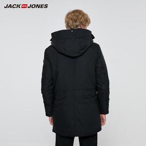 Image 2 - JackJones メンズ冬フード付きパーカーコートロングジャケット高級オーバーコート 2019 新メンズウェア 218309511