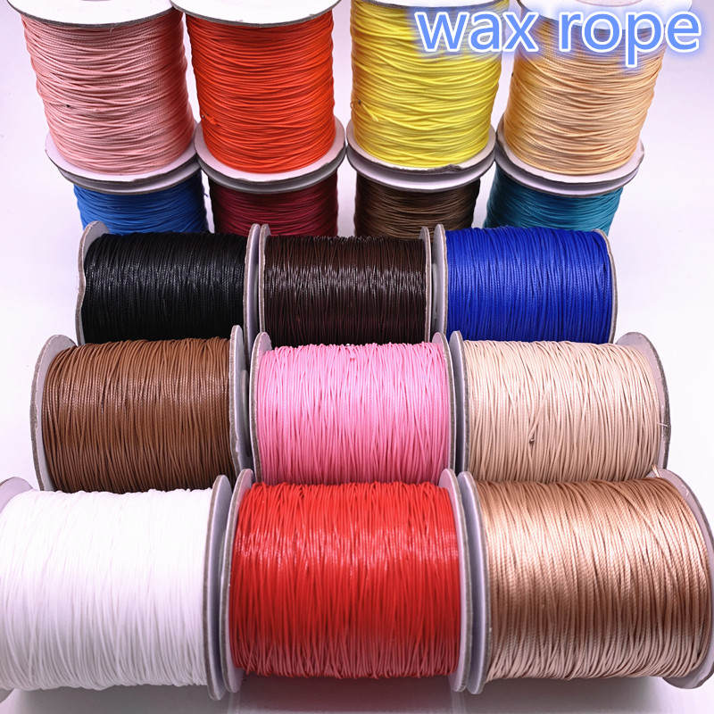 Waxed Cord Bracelet Strap Rope-Bead Necklace Jewelry-Making DIY