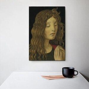 Sandro botticelli st joão batista ccanvas pintura impressão sala de estar decoração para casa arte da parede moderna pintura a óleo cartazes