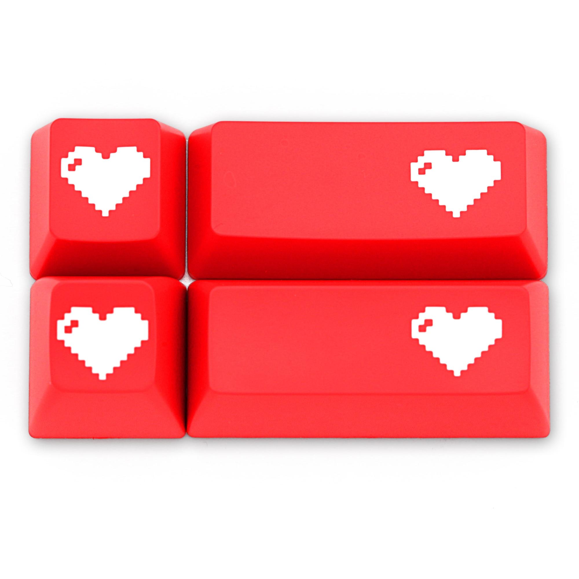 Domikey SA Abs Doubleshot Keycap Pixel Heart Red For Oem Dsa Sa Cherry Profile Poker 87 104 Gh60 Xd64 Xd68 Xd84 Xd96 Xd75 Xd87