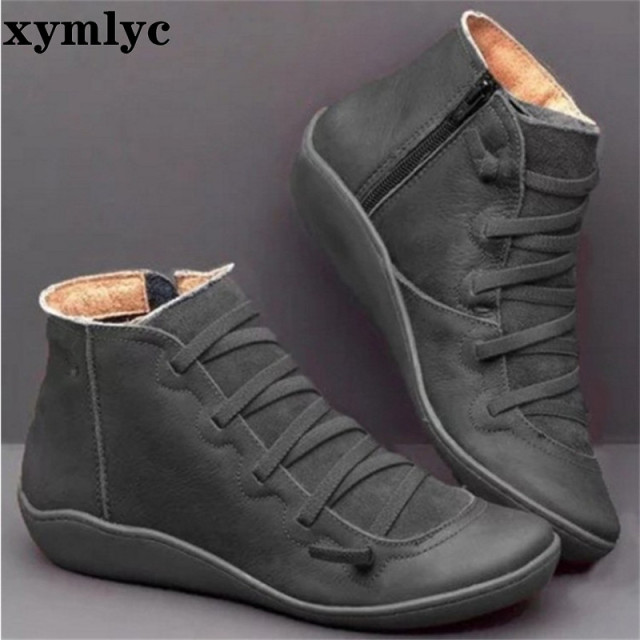 Women Winter Snow Boots Genuine leather Ankle 4