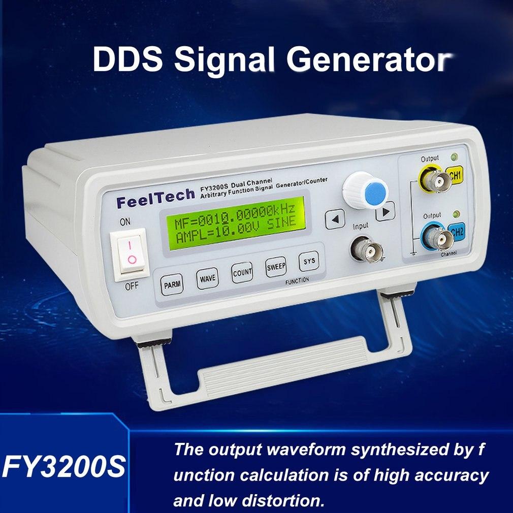 FellTech FY3200S 6MHZ numérique DDS double canal fonction générateur de Source de Signal forme d'onde arbitraire/compteur de fréquence d'impulsion nous