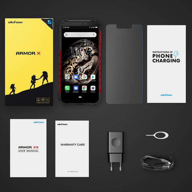 Ulefone Armor X5 MT6763 Octa core ip68 Rugged Waterproof  Smartphone Android 9.0  Cell Phone 3GB 32GB NFC  4G LTE Mobile Phone 6