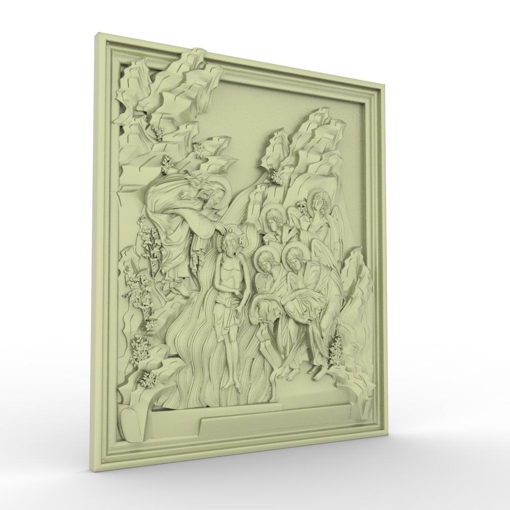 Jesus And Believer Relief 3D Model STL Format File CNC Router ArtCAM Aspire Type3 JDpaint Engraving Carving File A2072