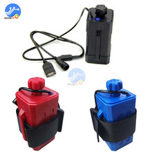 4x 18650 Cycling Safety Waterproof Battery Pack Charger Box LED Indicator Lithium battery case For BicycleTail Light Headlight