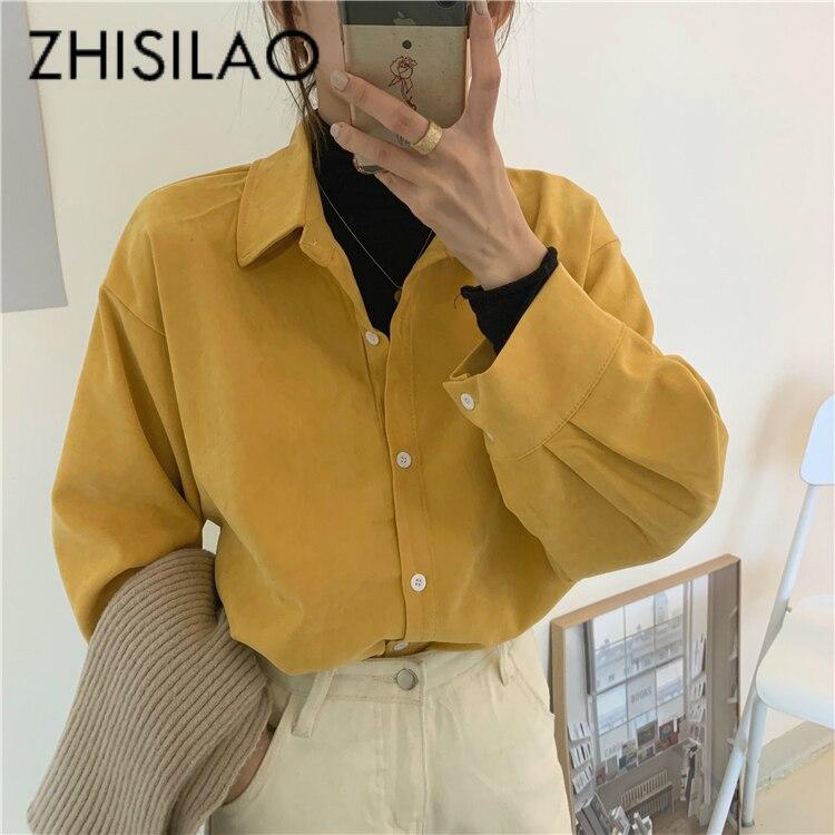 Solid Vintage Elegant Blouse Women Long Sleeve Shirts Mujer Spring 2020 Loose Blouse Plus Size White Black Blusa Feminina