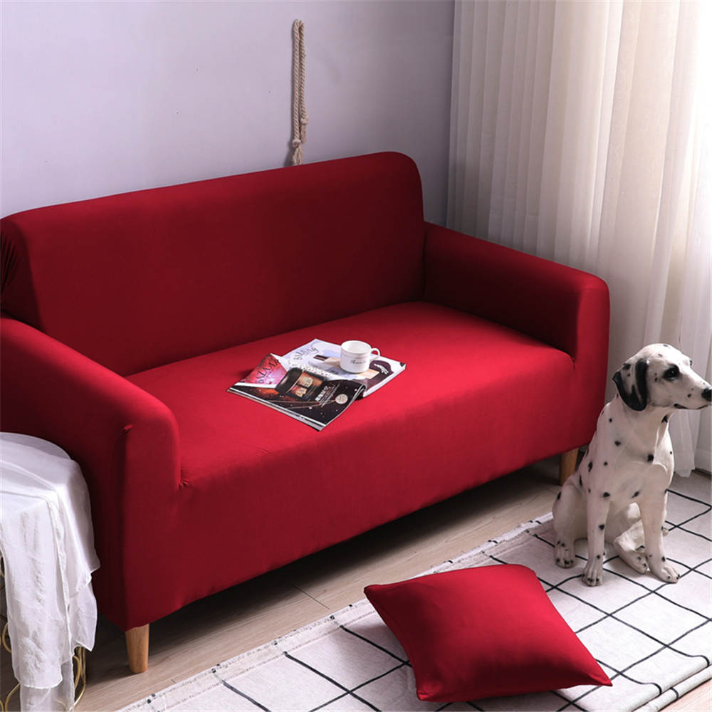 romantic luxury sectional sofa cover elastic living room with pillowcase corner couch cover red gift for adult for furniture
