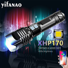 5000mAH XHP170 9CORE Bright LED Flashlight XHP90 XHP50 T6 Usb Rechargeable Tactical Flashlight Zoom Torch led Flashlight 18650
