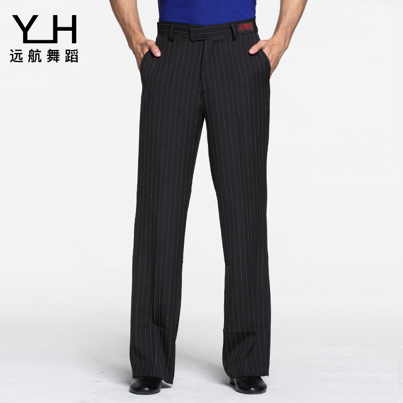 2019 Men's Latin Dance Pants Loose Striped Square Dance Trousers National Standard Modern Dance Pants