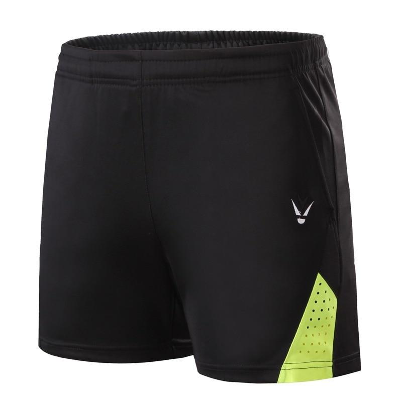 Новые шорты для бадминтона для мужчин и женщин, спортивные теннисные шорты, одежда для настольного тенниса, быстросохнущая одежда для бадминтона, спортивные шорты XS-4XL - Цвет: black green