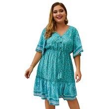 Wanyucl vestido feminino tamanho grande 2021 primavera e verão novo produto impresso sexy saia feminina